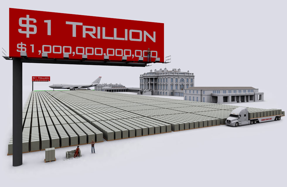 US Debt Visualized: Stacked in $100 dollar bills at 20+ Trillion ...