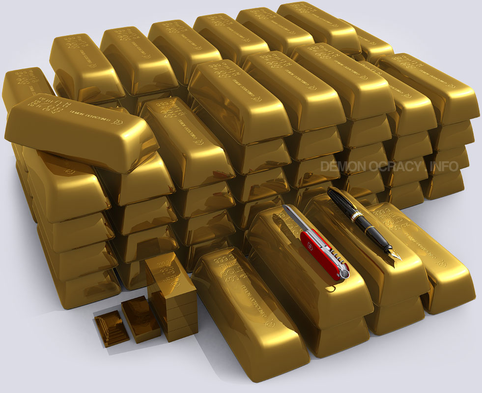 Gold Visualized In Bullion Bars