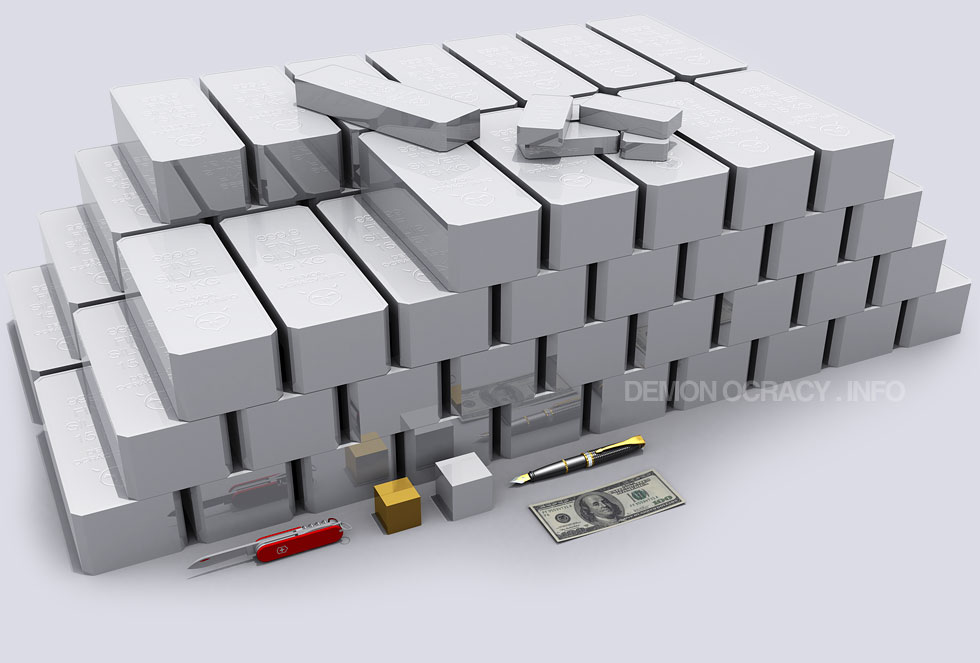 Silver Visualized In Bullion Bars Gold And Precious Metals