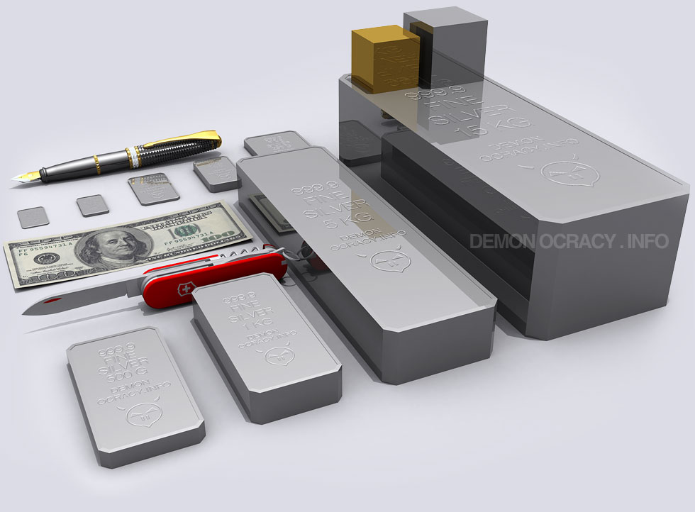 Silver Visualized In Bullion Bars